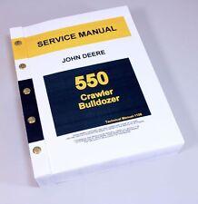 JOHN DEERE 550 CRAWLER BULLDOZER SERVICE REPAIR MANUAL TECHNICAL SHOP BOOK JD
