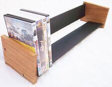 Oak Slate Design Long DVD Rack - Modern Contemporary Style