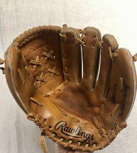 "Rawlings Rickey Henderson 11"" Baseball Glove Model RBG135 1980s Deep Well Pocket"