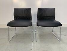"RRP £2500 - Sublime Pair of B&B Italia ""Otto OTPI"" Chairs in Superb Black ""Ga..."