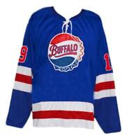 Custom Name # Buffalo Bisons Retro Hockey Jersey New Blue Hodgson Any Size
