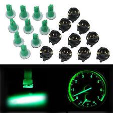 10Pcs PC74 T5 LED Twist Socket Green Instrument Dash Panel Cluster Light Bulb