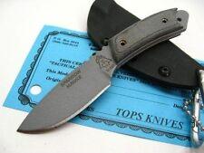 Couteau TOPS Sparrow Hawke Acier Carbone 1095 Manche Micarta Etui USA TPSPH01