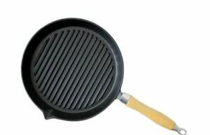 Non stick Pre Seasoned Griddle Plate Cast Iron Grill Steak Frying Pan (22cm)