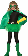 Child Superhero Cape Green Unisex Costume Accessory Villain Magician Phantom