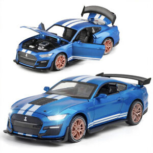 1/32 Scale Ford Mustang Shelby GT500 Diecast Model Toy Car Sound Light Kids Gift