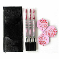 Professional Soft Tip Darts 17 Grams Cute Pink Barrels For Girl Dart Set Da P8O2