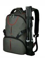LARGE DSLR SLR Camera Bag Backpack Rucksack Case+ Raincover For Nikon Sony Canon