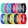 Men Women LED Waterproof Watches Sport Digital Silicone Bracelet Wrist Watch Hot
