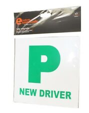 HALFORDS X 3 FULLY MAGNETIC NEW DRIVER PLATES FOR STEEL CARS NEW