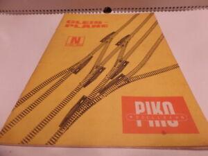 Katalog Gleispläne Piko Spur N 1970 DDR selten