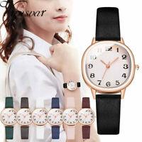 Elegant Women Ladies Glitter Starry Sky Watch Leather Soft Strap Wrist Watch UK