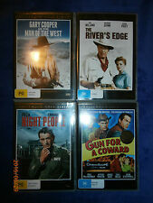 4 Western/War (DVD, 4-Discs) Gun Coward, Night People, River's Edge, Man of West