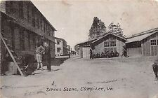 A85/ Camp Lee Virginia Va Postcard c1920 Street Scene Soldiers Barracks