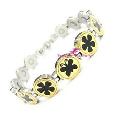New Womens Bio Magnetic Energy Health Bracelet Ladies Butterfly Wristband