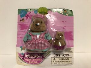 Lil Woodzeez Maggie And Honeybun Dolls 2 Piece Set New Sealed Package See Pic's