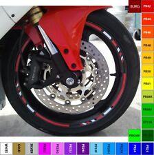 CUSTOM MOTORCYCLE RIM STRIPE WHEEL DECAL TAPE STICKER APRILIA DUCATI BMW HYOSUNG