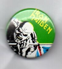IRON MAIDEN BUTTON BADGE English Heavy Metal Band -Wasted Years, Powerslave 25mm