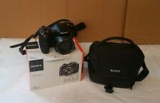 Sony digital Camera point and shoot Dsc H300 With Camera Bag pre owned.