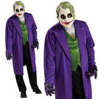 Adults Heath Ledgers The Joker Batman Movie Halloween Mens Fancy Dress Costume