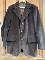 SOVEREIGN BY CROSSLEY Vintage Mens Brown Corduroy Blazer Jacket Sports Coat