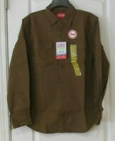 Coleman Cotton Canvas Stretch Long Sleeve Shirt Caramel Men's Sz XL NWT MSRP$80