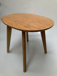 Bamboo Tea Coffee Side Bedside Table H 32cm