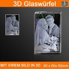 R90 3D Foto im Glas Gravur Geschenkidee Weihnachten Baby Ehemann Kinder Frau