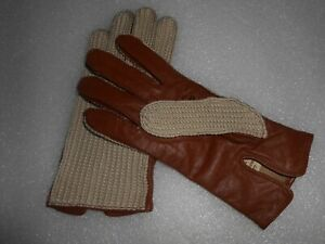Dents Womens Kelly Crochet Back Driving Gloves Size 7 / NEW