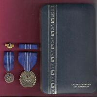 US State Department Meritorious Service Honor Award medal set in case with mini