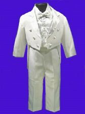 BOYS WHITE TUXEDO w/VEST WEDDING RING BOY BEARER SIZE 2
