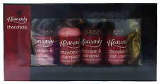 Heavenly Nights Chocoholic Chocolate and Body Sauce Kit 4 Bottles