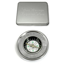 Engraved Compass Personalised Camping  Orienteering Hiking Present Birthday Gift