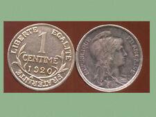 FRANCE FRANCIA 1 CENTIME DUPUIS 1920  (SUP)