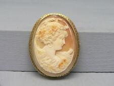 & Pendant Lots of Gold Large Elegant 14k Gold Cameo Pin