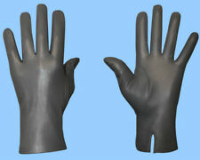NEW MENS size 9 or Large UNLINED GENUINE GREY LAMBSKIN LEATHER DRESS GLOVES