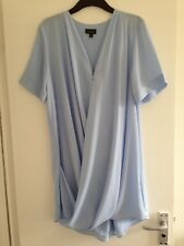 BNOWT Ladies Topshop Sky Blue Knee Length Oversized Blouse-Size 12, EUR 40, US 8