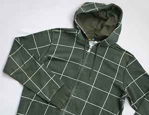 Carhartt Hooded Fence Jacket mens Full Zip Hoodie top size M Medium green CHECK