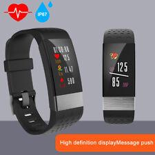 Wasserdicht Bluetooth Fitnesstracker Uhr Smart Armbanduhr Smartwatch Pulsmesser