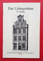 Broschüre Das Uphagenhaus in DANZIG    ( F16006