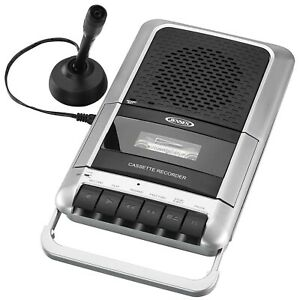Jensen Portable Cassette Player and Recorder - AC-DC New