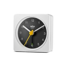 Braun Uhren BC02WB Quarzwecker weiß