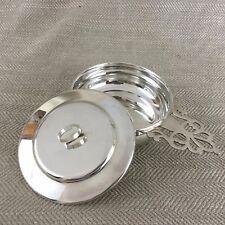Vintage Silver Plated Porringer Baby Feeding Bowl Lunt Lidded Dish