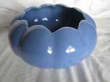"""Antique McCoy/FLORALINE Scalloped  Soft Blue Bowl  VASE  Lg. 7""""  Florist Urn Jar"""