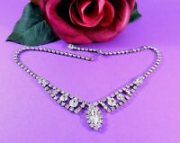 Vintage Rhinestone Choker Necklace Bride Wedding