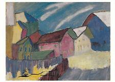 Kunstkarte: Gabriele Münter - Dorfstrasse im Winter