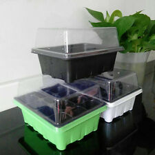 12 Cells All Hole Plant Seeds Grow Box Tray Insert Propagation Seeding Case /au
