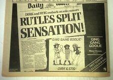 Rutles Split - Gin Gan Goolie 1978 UK Press ADVERT 12x8 inches