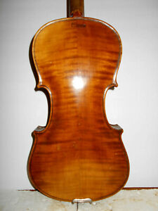 """Antique Old Vintage Late 1800/Early 1900s """"Stainer"""" 2 Pc. Back Full Size Violin"""