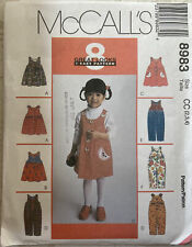 McCalls Toddler Girls Dress Jumper Romper Pattern Size 8983 Size 2 3 4 Uncut
